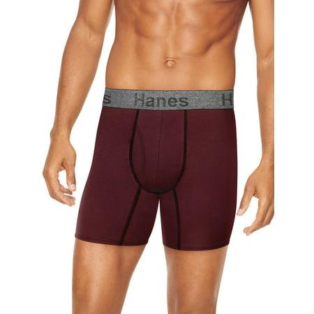 Hanes Men's Comfort Flex Fit Cotton Stretch Boxer Brief, 3 + 2 Bonus Pack (Mens Underwear 2xl Hanes)