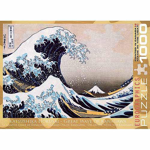 EuroGraphics Great Wave Kanagawa by Hokusai 1000-Piece Puzzle by Generic