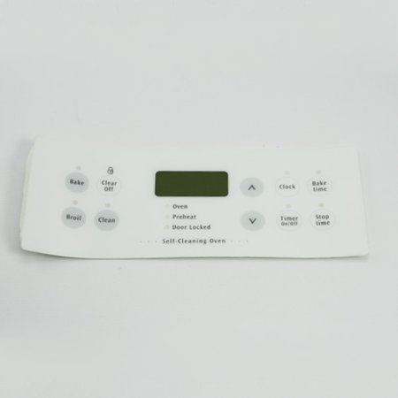316220804 For Frigidaire Range Clock Overlay