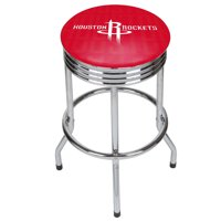 NBA Chrome Ribbed Bar Stool - City - Houston Rockets