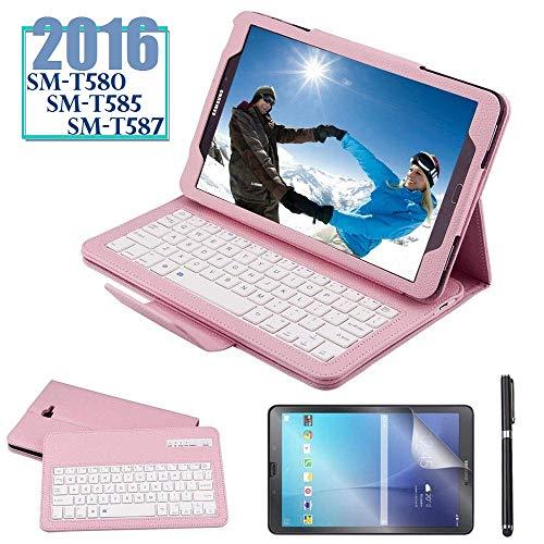 REAL-EAGLE Galaxy Tab A 10.1 2019 Keyboard Case SM-T510//T515 Galaxy Tab A 10.1 2019, Black PU Leather Case with Detachable Wireless Bluetooth Keyboard for Samsung Galaxy Tab A 10.1 2019