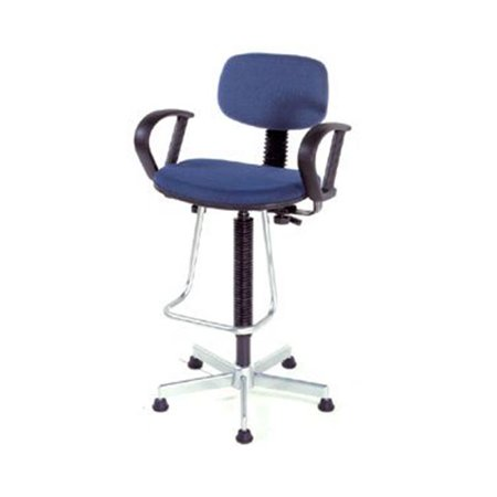 Nexel Industries Ps17lbl Dynamic Design Pneumatic Production Stool With Loop Arms  Blue