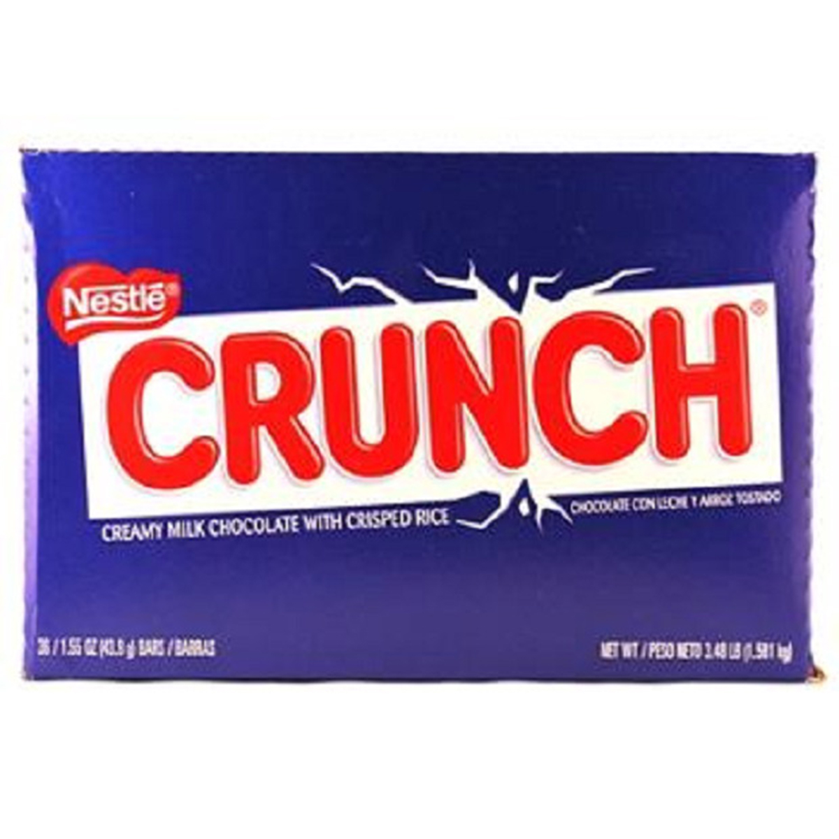 Product Of Nestle Crunch, Crisp Chocolate Wafer Bar, Count 36 (1.55 oz) - Chocolate Candy / Grab Varieties & Flavors