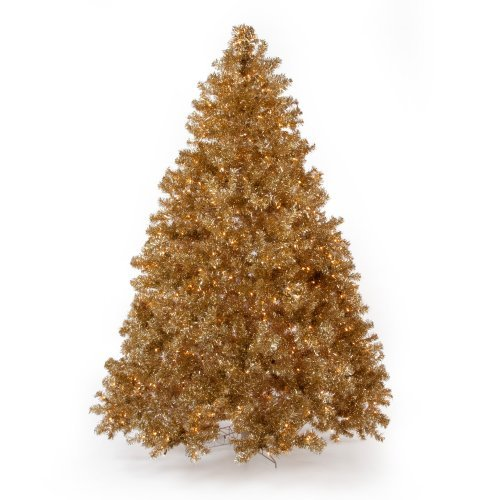 Classic Champagne Gold Full Pre-lit Christmas Tree - 7.5 ft. - Clear