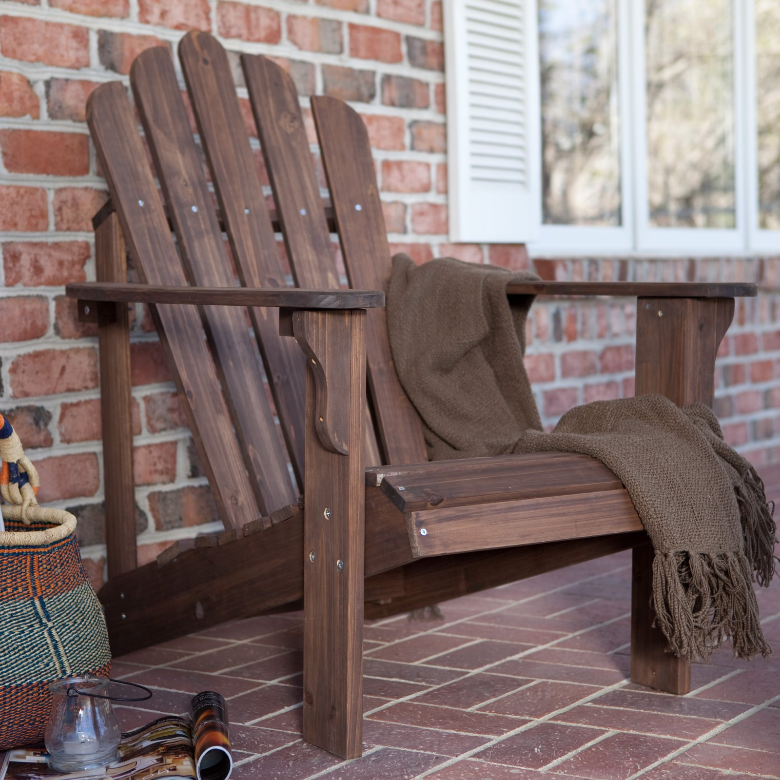 Coral Coast Hubbard Adirondack Chair Dark Brown by