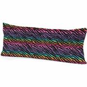 Your Zone Rainbow Zebra Print Body Pillow, 1 Each