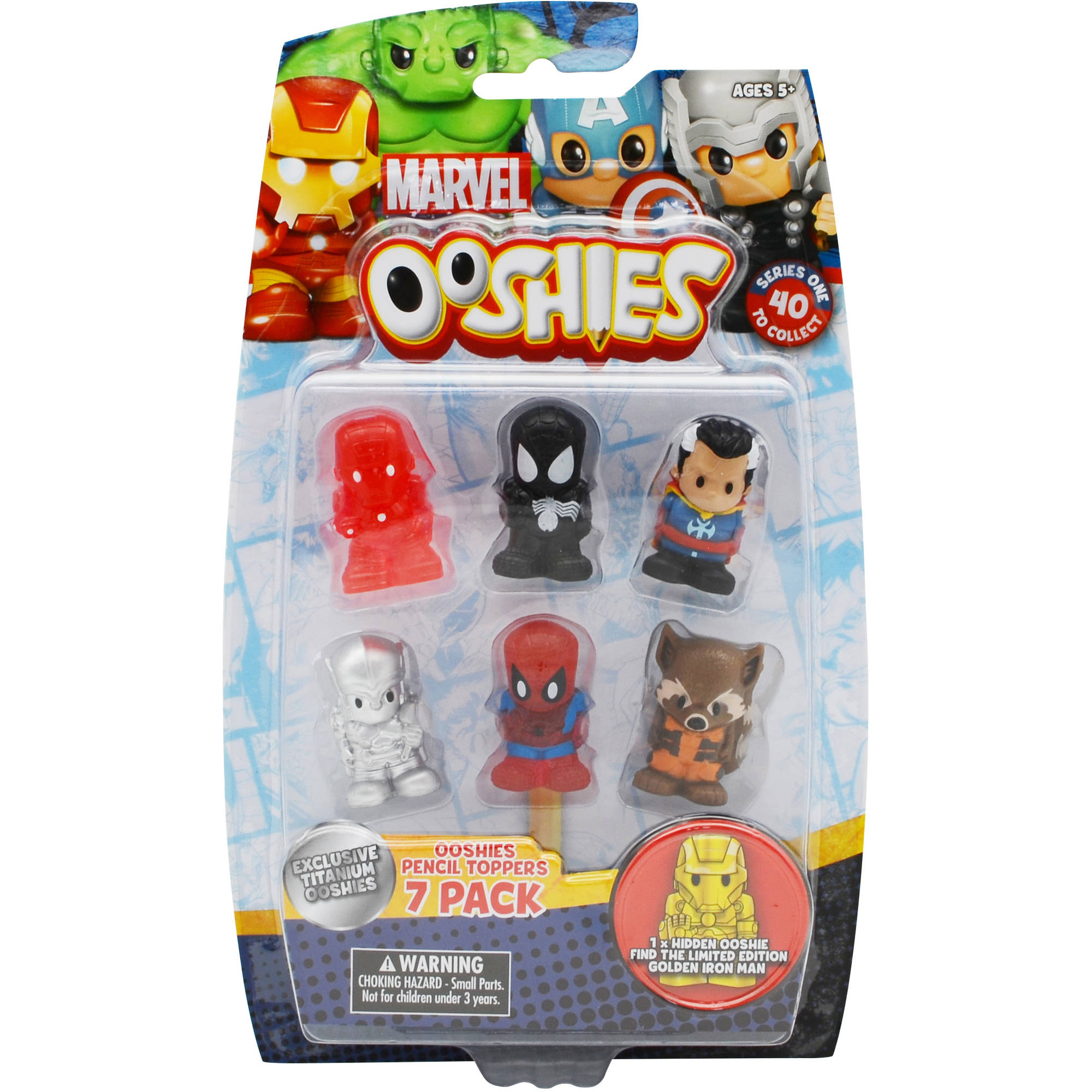 Ooshies 4 Pack figures Pencil toppers Marvel 4 styles to choose from NEW