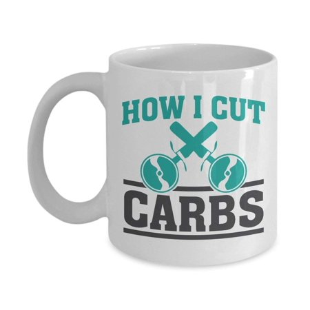 Pizza Hut Gift (How I Cut Carbs Funny Pizza Cutter Coffee & Tea Gift Mug For Pizza Bread Lover Gym Instructor, Fit Mom And Fitness Conscious)