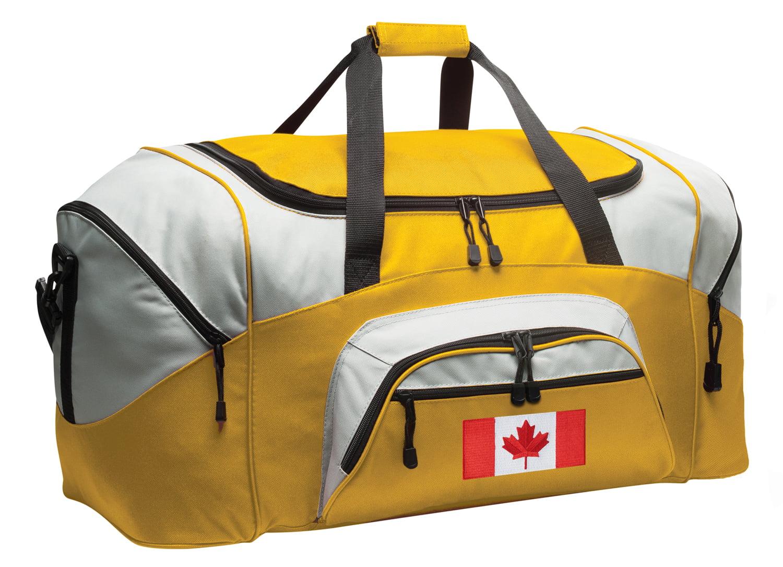 Canadian Flag Duffel Bag or Canadian Flag Luggage Bag
