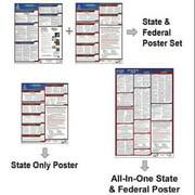 JJ KELLER 300-IL-3 LaborLaw Poster,Fed/STA,IL,ENG,26inH,3yr