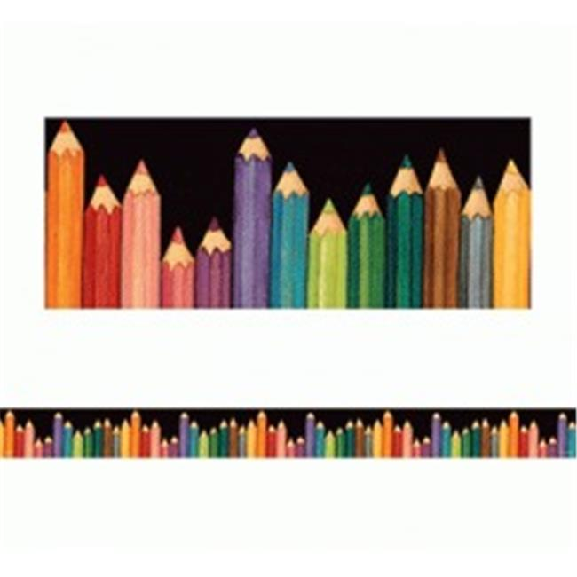 Teacher Created Resources SW Colored Pencils Straight Border Trim, Multi Color (4060)