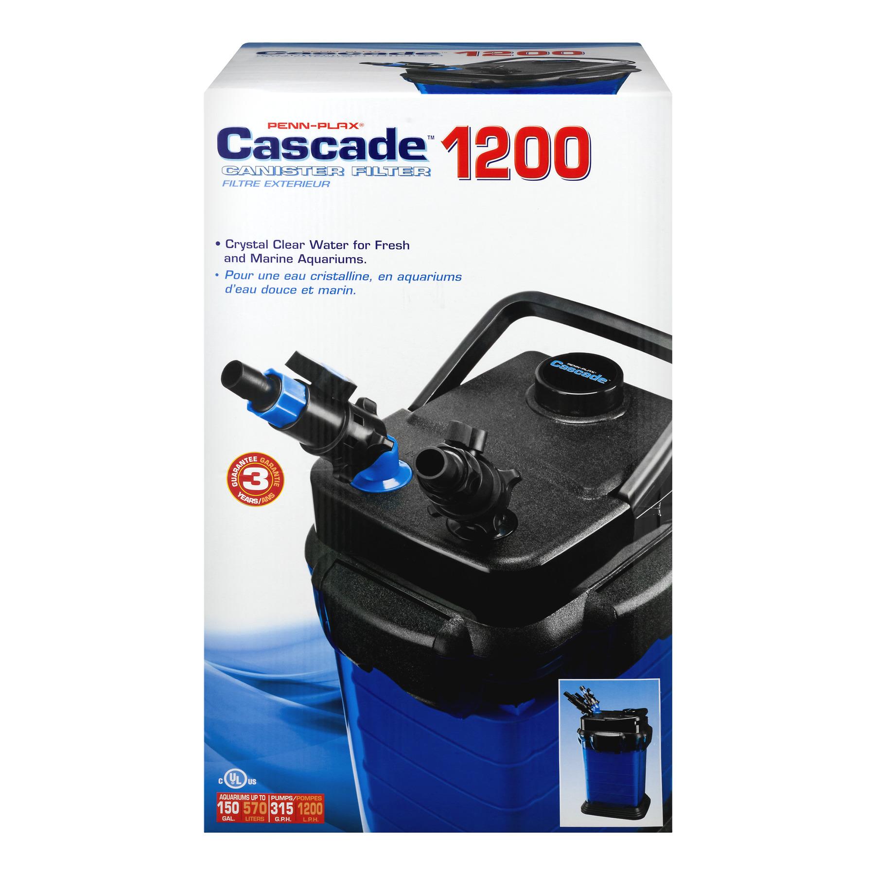 penn-plax cascade canister filter 1200 - walmart.com
