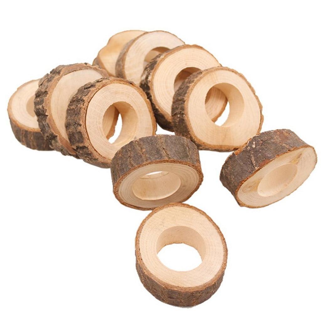 Sanfanil Wooden Round Wooden Pendant Napkin Ring Crafts Production Hotel Diy Wedding Walmart Com Walmart Com