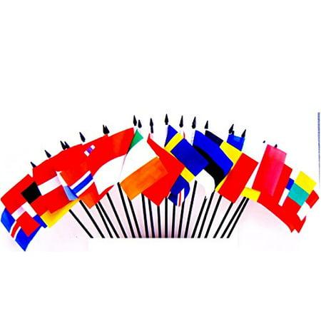 NORTHWEST EUROPE WORLD FLAG SET--20 Polyester 4