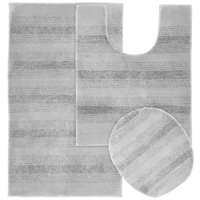Garland Rug Essence 3 Piece Nylon Washable Bathroom Rug Set