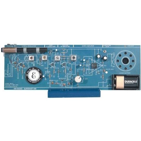 Intermediate AM Radio Kit, 10-1/2 x 3-1/2 PC board By Amerikit