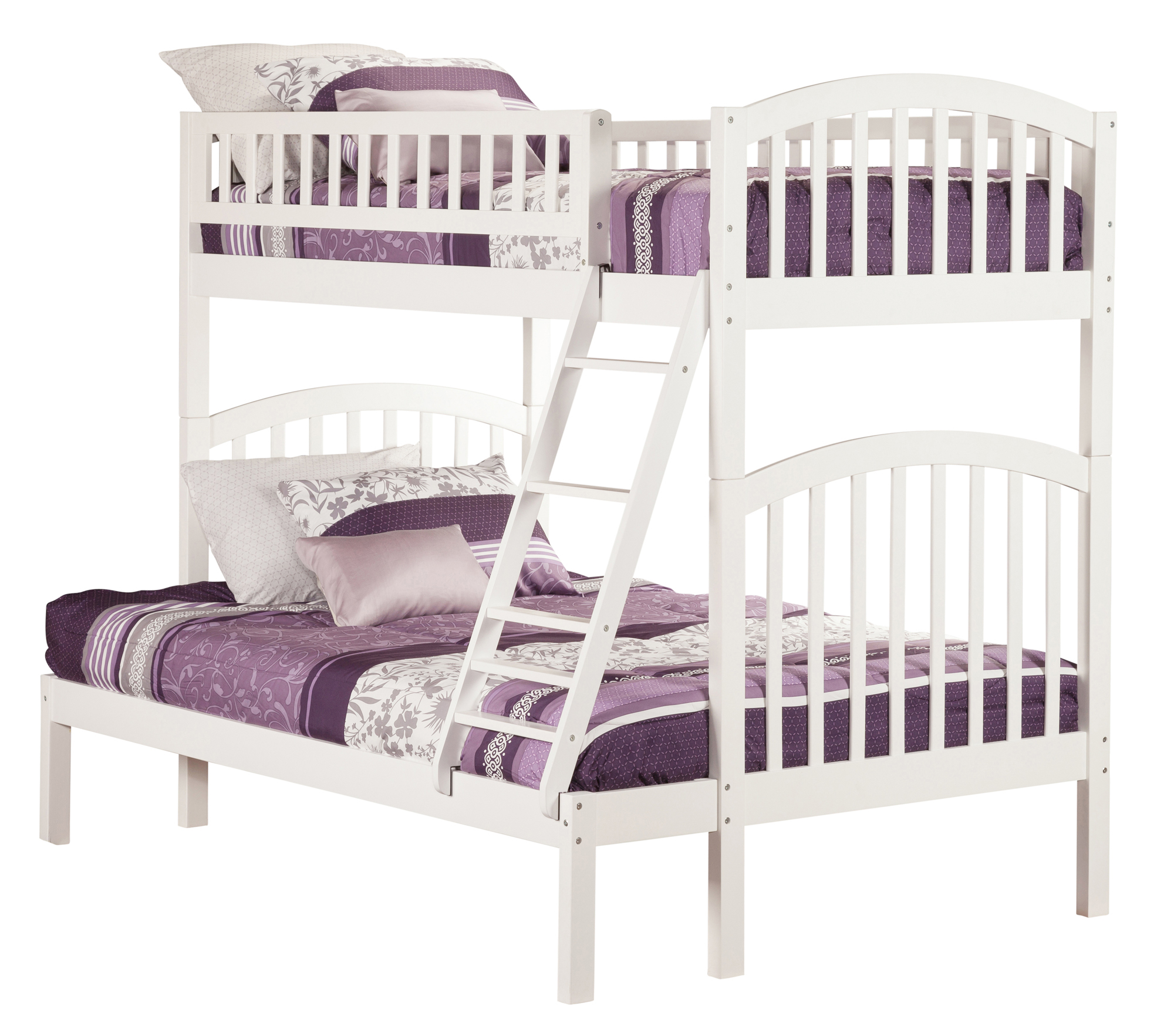 Richland Bunk Bed Twin Over Full In White Walmart Com