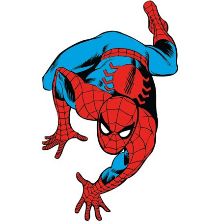 Marvel classic spider man peel and stick giant wall decals