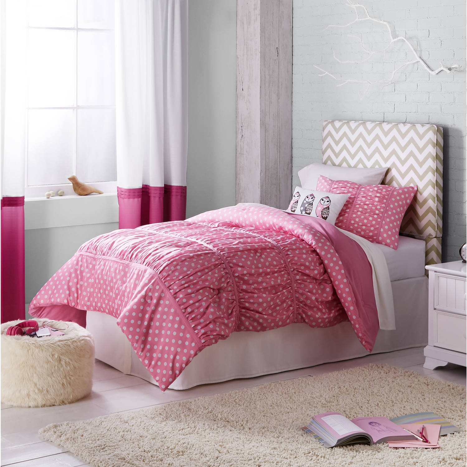 Better Homes and Gardens Kids Ruched Dots Bedding Comforter Set