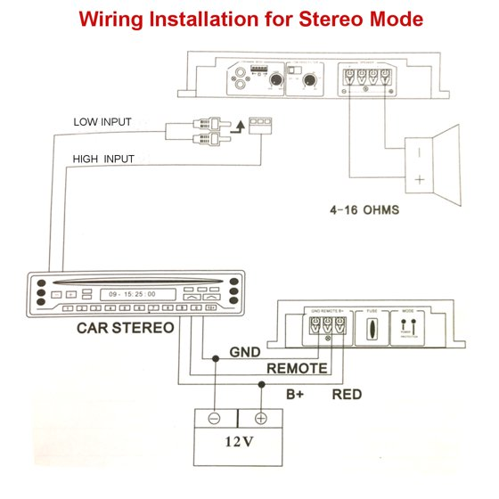2000W Powerful 4 Channel 12V Stereo / Mono RMS Moffset Car ... on