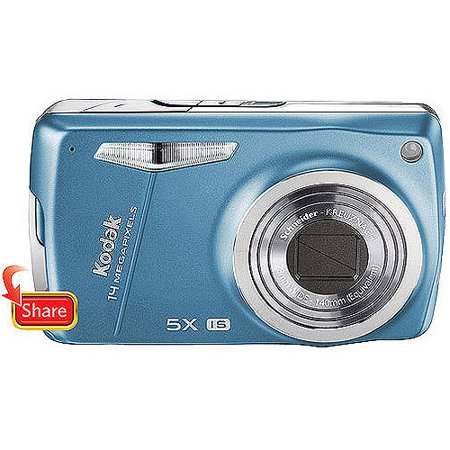 Kodak Easyshare M575 14 MP Digital Camera With 5x Wide Angle Optical Zoom And 30 Inch LCD Lake Blue