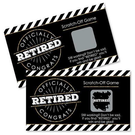 Happy Retirement - Retirement Party Game Scratch Off Cards - 22 Count