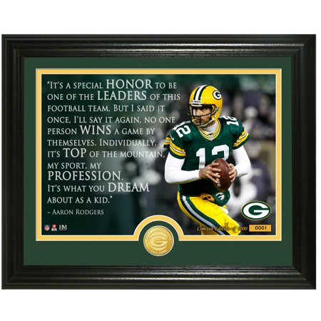 Aaron Rodgers Green Bay Packers Highland Mint 13