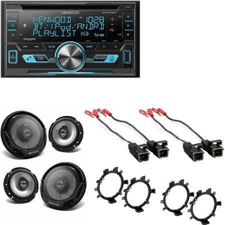 Kenwood Double DIN CD Bluetooth SiriusXM Car Stereo 4x ... on