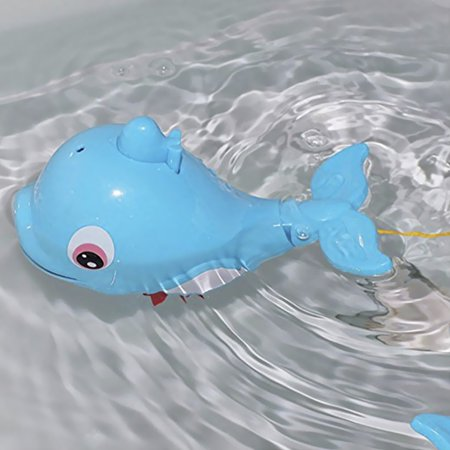 Cute Dolphin Baby Kids Bath Shower Toy Squirt Water Swimming Fish Pull Kids Toys - image 2 of 7