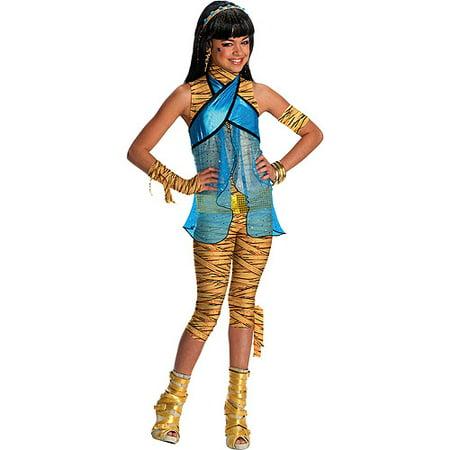Monster High Costumes For Little Girls (Girl's Child Cleo De Nile Halloween Costume - Monster)