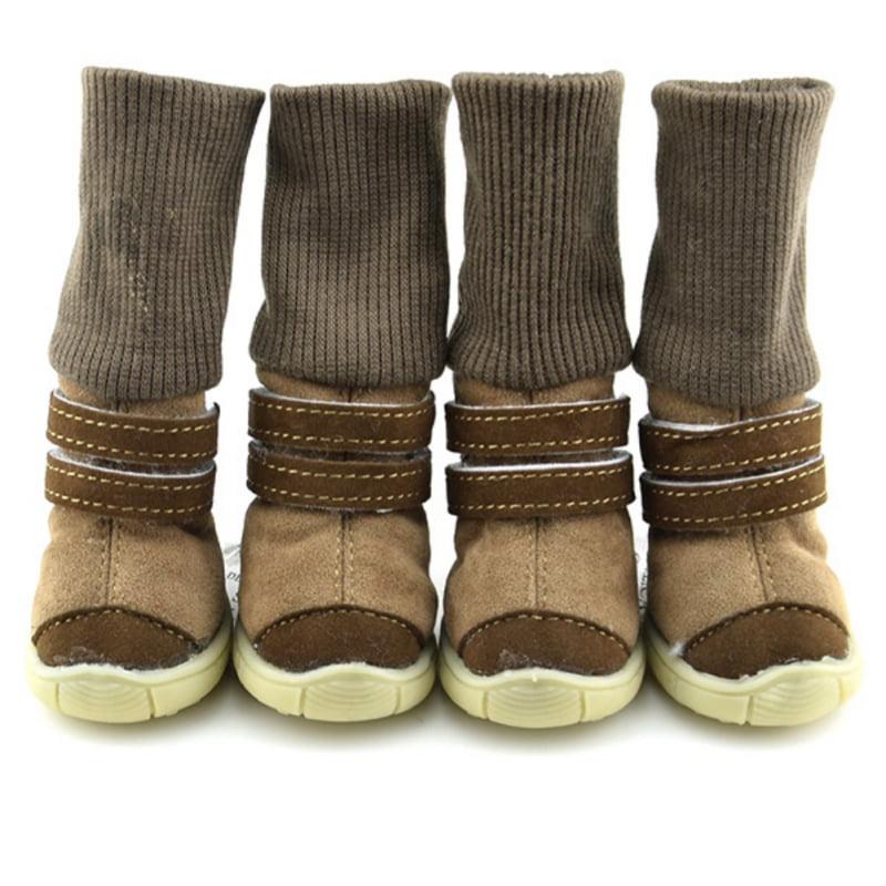 4PCS/Set Waterproof Pet Dog Shoes Winter Dog Cat Snow Boots Warm Puppy Booties XS-XL