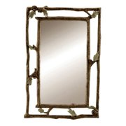 Pinecone and Branch Wall Mirror - 22W x 33.5H in.