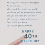 Hallmark 40th Birthday Greeting Card Beams Image 3 Of 6