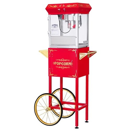 Red 4 Ounce All Star GNP-450 Classic Popcorn Machine Top