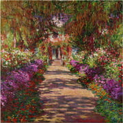 "Trademark Fine Art ""A Pathway in Monet's Garden"" Canvas Art by Claude Monet"