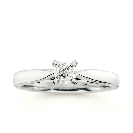 Image of Always & Forever Platinaire 1/3 Carat Round Solitaire Diamond Engagement Ring