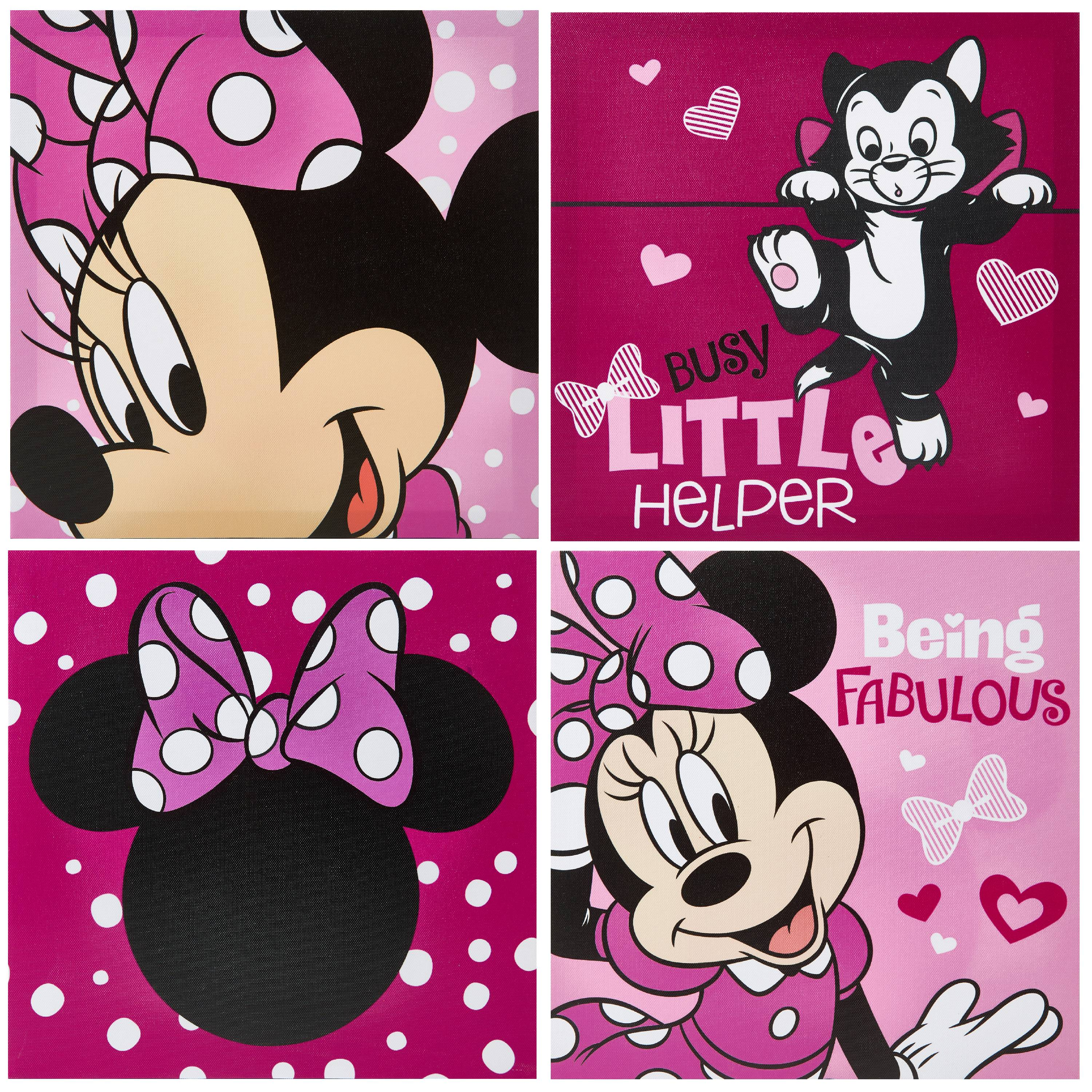 Disney Minnie Mouse Fabulous 4 Pack Canvas Wall Art