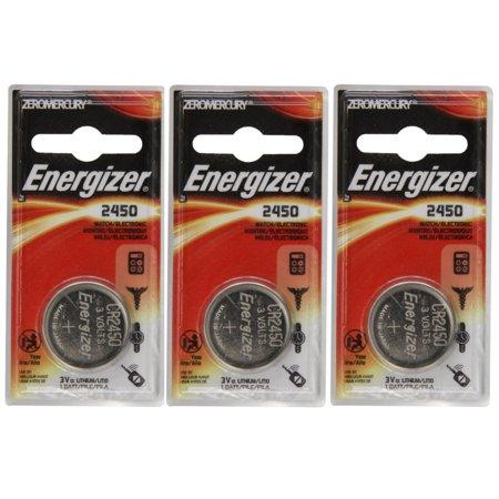 3 pack energizer cr2450 ecr2450 cr 2450 3v lithium coin cell button battery. Black Bedroom Furniture Sets. Home Design Ideas