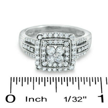 Dazzlingrock Collection 1.10 Carat (ctw) 14K Round Diamond Vintage Engagement Bridal Ring 1 1/10 CT, White Gold, Size 7.5