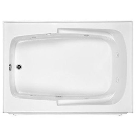 Reliance Baths R6042ISW-W-RH Integral Skirted 60 x 42 in. Whirlpool Bathtub With End Drain, White (6042 Bathtub)