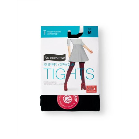 Womens Cotton Microfiber Tights (No nonsense Women's Super Opaque Control Top Tights )