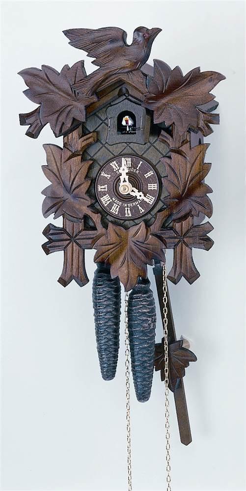 1-Day Black Forest Cuckoo Clock w Plastic Hands by Schneider Cuckoo Clocks