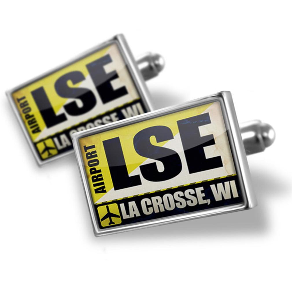 Cufflinks Airportcode LSE La Crosse, WI - NEONBLOND