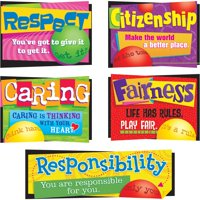 Trend, TEP8146, Character Education Bulletin Board Set, 6 / Set, Assorted
