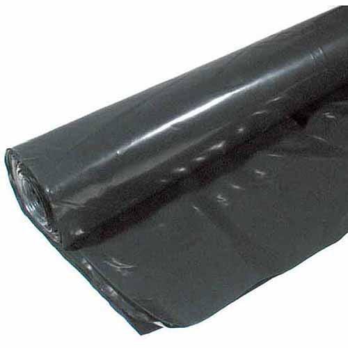 Poly-america 6 mL Tyco Polyethylene Black Plastic Sheeting, 6' x 100'