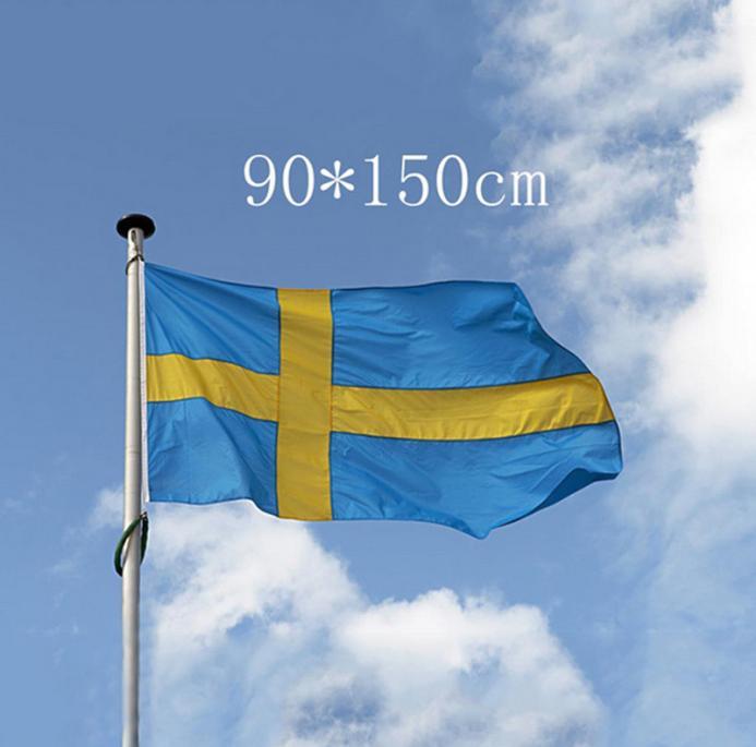 FLAG 5ft X 3ft SWEDAN SWEDISH