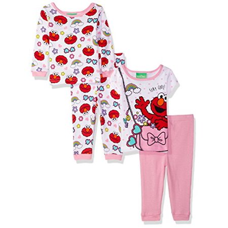 aa748041be Sesame Street - Sesame Street Toddler Girls  Elmo 4-Piece Cotton ...