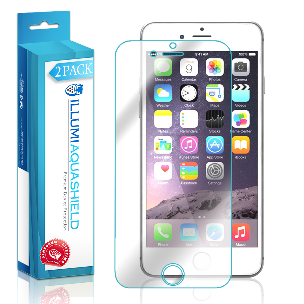 2x iLLumi AquaShield Crystal HD Clear Screen Protector for Apple iPhone 6 Plus