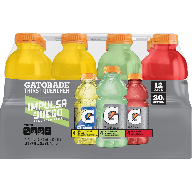 Gatorade Thirst Quencher, Variety Pack, 20 oz Bottles, 12 Count