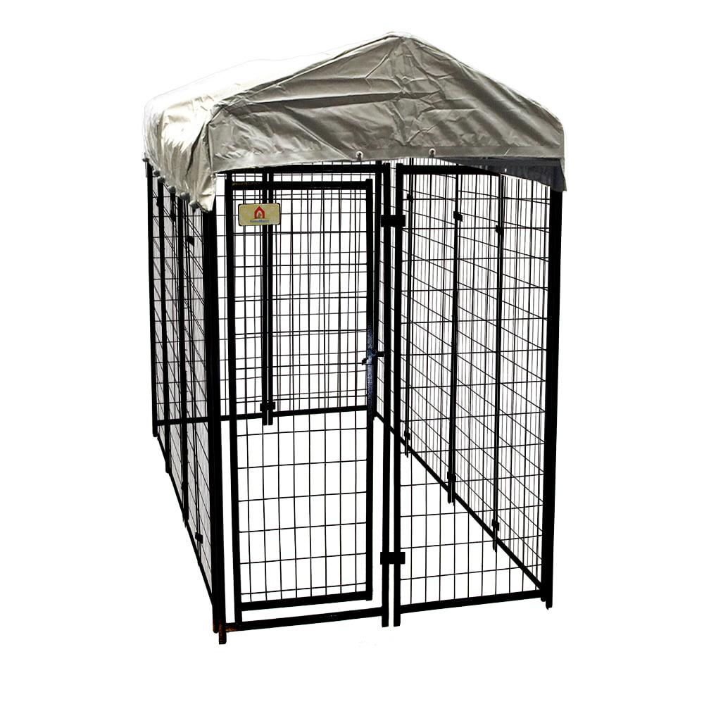 KennelMaster Welded Wire Dog Kennel, 6\'H x 4\'W x 8\'L - Walmart.com
